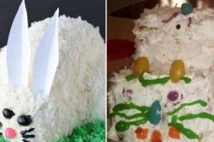 Làm bánh sinh nhật tặng, nhưng biểu cảm của cháu khiến chú hoang mang