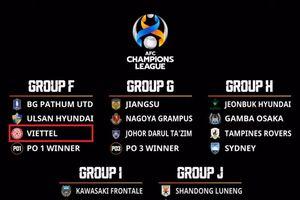 Viettel rơi vào bảng 'tử thần' tại AFC Champions League