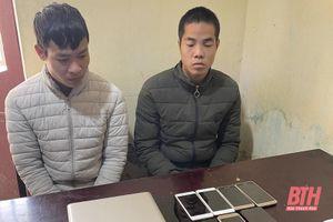 Bắt giữ 2 đối tượng đột nhập cửa hàng điện thoại trộm cắp