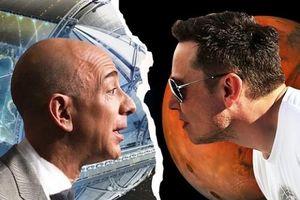 Elon Musk và Jeff Bezos đang giành giật không gian cho vệ tinh trên vũ trụ