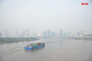 Sương mù dày đặc bao phủ TP Hồ Chí Minh