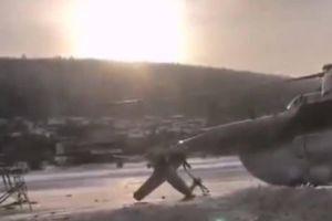 Trực thăng Mi-8 đâm vào tòa nhà sân bay tại Nga