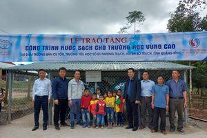 Quỹ Toyota Việt Nam xây dựng hệ thống nước sạch cho trường học tại Quảng Bình