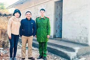 Vợ chồng trẻ hiến đất xây trụ sở và nhà ở cho cán bộ, chiến sĩ Công an xã