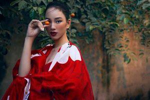 Người đẹp Ái Nhi đẹp cuốn hút giữa trời đông giá rét