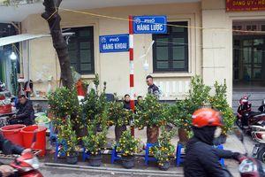 Hà Nội: Đeo khẩu trang, sát khuẩn tay khi vào chợ hoa Hàng Lược
