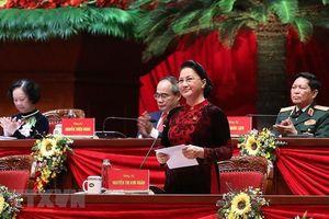 Hình ảnh các nữ đại biểu tham dự Đại hội XIII của Đảng