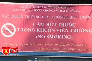 Nên cấm triệt để việc hút thuốc lá trong các cơ sở giáo dục