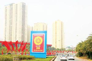 Hà Nội rực rỡ cờ hoa chào mừng Đại hội Đảng