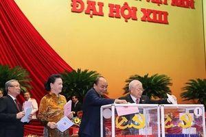 Chùm ảnh: Bỏ phiếu bầu Ban Chấp hành Trung ương khóa XIII