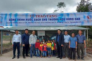 Xây dựng hệ thống nước sạch cho trường học vùng cao tỉnh Quảng Bình