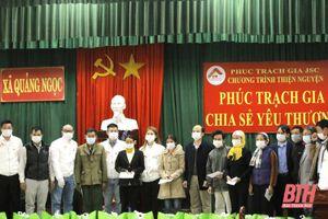 Trao 45 suất quà tết cho hộ nghèo, có hoàn cảnh khó khăn ở xã Quảng Ngọc