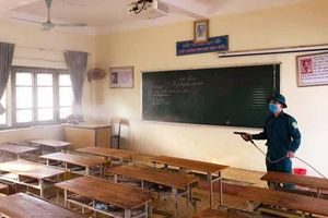 TP Thái Nguyên: Phun khử khuẩn, tổng vệ sinh toàn bộ các trường học