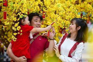 Giới trẻ Sài Gòn chơi Tết sớm ở đường mai chào xuân Tân Sửu