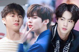 Top 20 nam idol Kpop hot nhất tháng 1: Jin (BTS) 'bại trận' trước B.I, Kim Woo Seok tăng hạng!