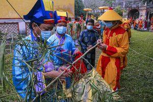 Huế: Dựng cây nêu hoàng cung nhà Nguyễn để cầu bình an