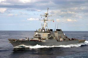 Tàu chiến Mỹ lần đầu đi qua eo biển Đài Loan trong thời TT Biden