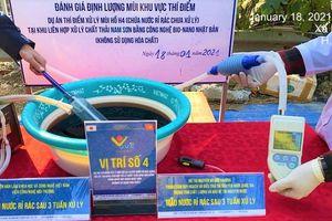 Kết thúc 1 tháng thử nghiệm xử lý mùi nước rỉ rác tại bãi rác Nam Sơn