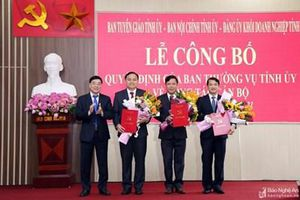 Nguyên Kiểm sát viên VKSND tỉnh Nghệ An giữ chức vụ Phó Trưởng ban Nội chính Tỉnh ủy