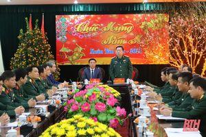 Thượng tướng Nguyễn Trọng Nghĩa kiểm tra và chúc tết Bộ Chỉ huy Quân sự tỉnh Thanh Hóa