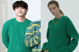 Nhờ V (BTS), áo len màu xanh lá cây được bán hết
