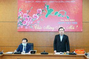 Kiểm tra công tác phòng, chống dịch Covid-19 tại quận Long Biên