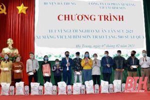 Công ty CP Xi măng Bỉm Sơn tặng 500 suất quà tết cho hộ nghèo huyện Hà Trung