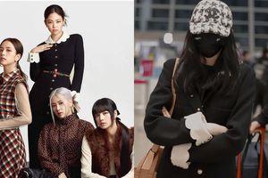 Giàu như Quan Hiểu Đồng, diện ra sân bay mẫu áo khoác Chanel mà Jennie chỉ mặc chụp tạp chí