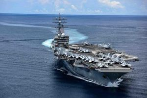 Hai tàu sân bay Mỹ cùng tập trận trên Biển Đông