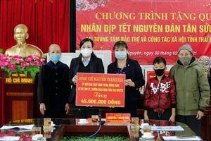 Hội LHPN tỉnh Thái Nguyên vận động trên 2,7 tỷ đồng mang Tết đến với người nghèo