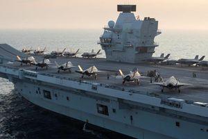 Siêu tàu sân bay Anh chất đấy tiêm kích F-35 sẽ tập trận tại Châu Á