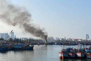 Đà Nẵng: Cháy ở âu thuyền Thọ Quang, 3 tàu bị thiệt hại nặng