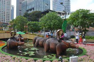 Đường Hoa Nguyễn Huệ Tết Tân Sửu mở cửa thêm một ngày