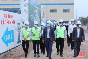 Đồng chí Bí thư Tỉnh ủy Đỗ Trọng Hưng dự lễ ra quân triển khai kế hoạch thi công đầu năm tại Dự án Nhà máy Nhiệt điện BOT Nghi Sơn II