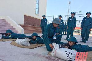 Lực lượng vũ trang TP Thanh Hóa nâng cao chất lượng huấn luyện sẵn sàng chiến đấu