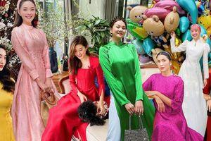 Rợp trời sao Việt diện áo dài khai xuân, tỏa sắc rực rỡ ngày Tết