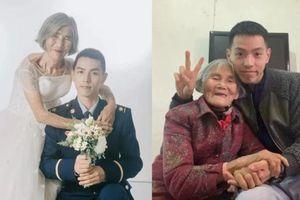 Sự thật đằng sau bức 'ảnh cưới' của chàng lính cứu hỏa và 'cô dâu' hơn 61 tuổi