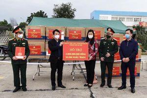 Hà Nội hỗ trợ Hải Dương 2 tỉ đồng và 50.000 khẩu trang y tế phòng chống COVID-19