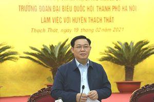 Bí thư Thành ủy Vương Đình Huệ: Thạch Thất cần đổi mới tư duy, phát triển hài hòa giữa nông nghiệp và thương mại, du lịch