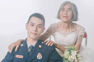 Chuyện cảm động đằng sau bộ ảnh cưới của 'cặp đôi' lệch 61 tuổi