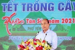 Thủ tướng Nguyễn Xuân Phúc dự Tết trồng cây và làm việc tại Phú Yên