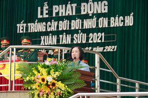 Đồng chí Trương Thị Mai dự lễ phát động Tết trồng cây 'Đời đời nhớ ơn Bác Hồ'
