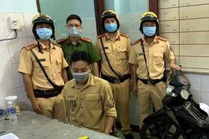 Cảnh sát giao thông TP Hồ Chí Minh bắt giữ đối tượng dương tính chất ma túy