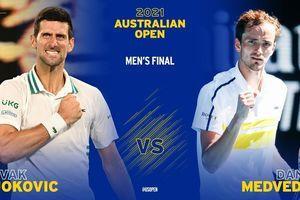 Trực tiếp Djokovic 3-0 (7-5, 6-2, 6-2) Medvedev: Djokovic vô địch