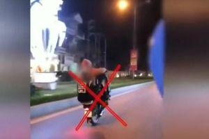 Khoe clip 'bốc đầu' xe máy lên mạng, 4 thanh niên nhận kết đắng