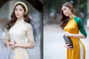 Hot girl xứ Nghệ là Hoa khôi Đại học Quốc gia khoe nhan sắc ngọt ngào trong tà áo dài truyền thống
