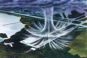 Đám mây lục giác tạo bom không khí trên bầu trời Tam giác quỷ Bermuda