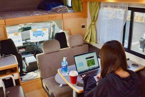 Công ty Nhật phát triển 'văn phòng di động' trên những chiếc minibus