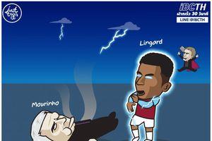 Biếm họa 24h: Lingard 'đánh ngã' HLV Mourinho, Lukaku thổi bay Ibrahimovic