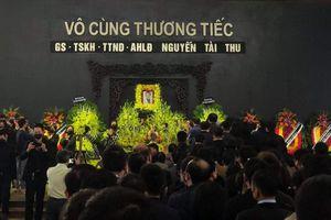 Tiễn biệt Giáo sư Nguyễn Tài Thu về nơi an nghỉ cuối cùng